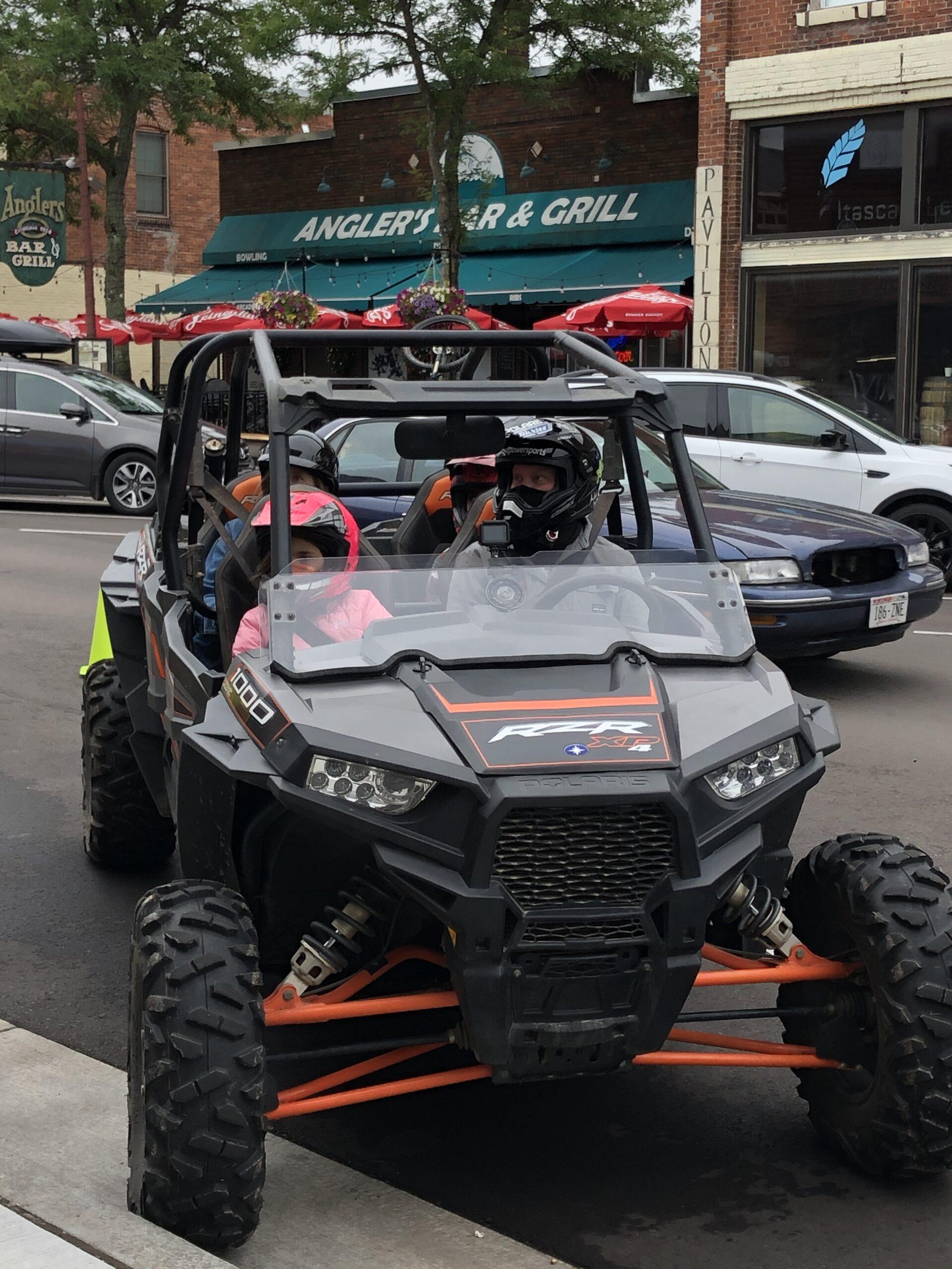 ATV parked on Main Street Hayward